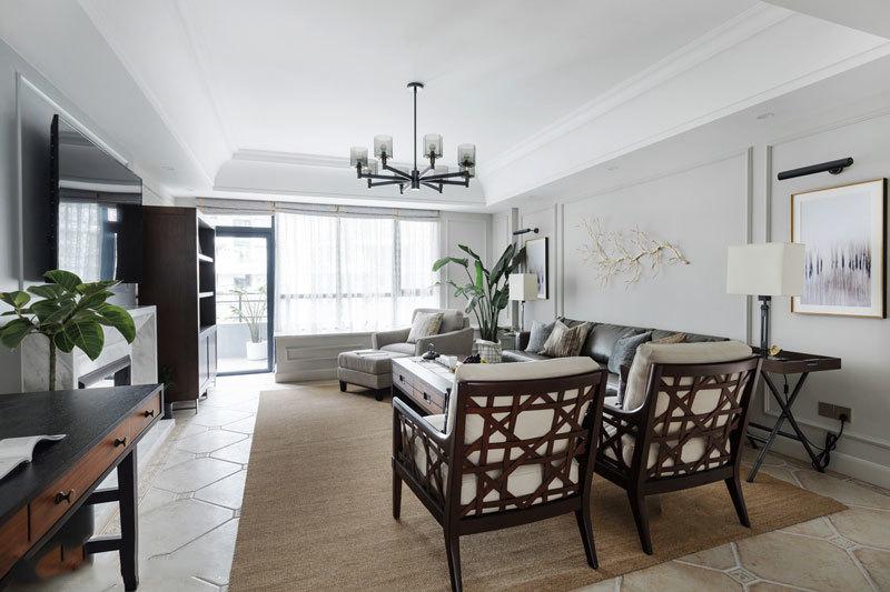 新中式风格精致古典客厅设计装修效果图