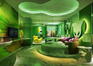 现代风格精致主题酒店客房装修效果图