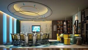 新中式风格时尚酒店包厢设计装修效果图