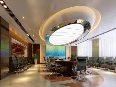 现代风格多功能会议室设计装修效果图