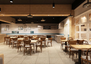 60平米简约风格餐厅设计装修效果图