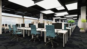 现代风格小型办公室设计装修效果图