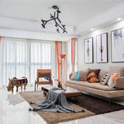 北欧风格甜美清新客厅设计装修效果图