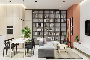 72平米简约风格两室两厅室内装修效果图