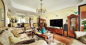 美式混搭风格时尚大户型室内设计装修效果图
