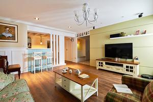 131平米美式田园风格三室两厅室内设计装修效果图