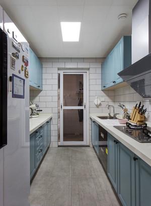 清新风格浅蓝色厨房设计装修效果图