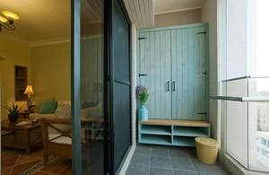 95平米田园风格自然舒适三室两厅装修图