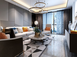 现代风格时尚创意客厅设计装修效果图赏析