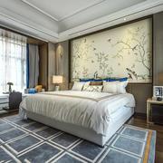 新中式风格典雅卧室设计装修效果图鉴赏