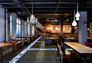 复古风格主题餐厅设计装修效果图