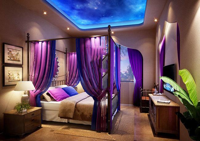 东南亚风格精致酒店客房装修效果图图片