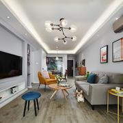 北欧风格简约时尚客厅设计装修效果图