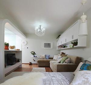 50平米现代简约风格单身公寓装修效果图