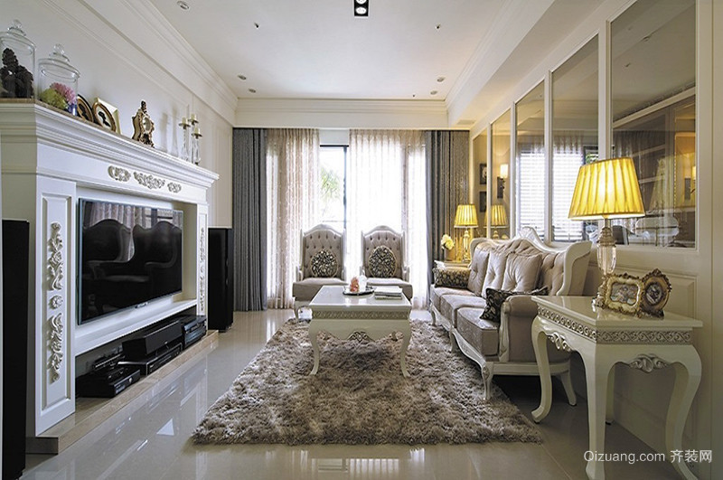 法式风格奢华浪漫大户型室内装修效果图