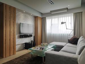 62平米简约风格一居室室内设计装修效果图