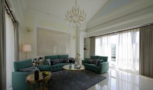 156平米简约美式风格大户型室内装修效果图