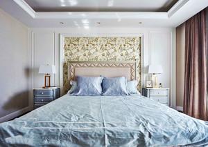 现代美式风格温馨卧室设计装修效果图