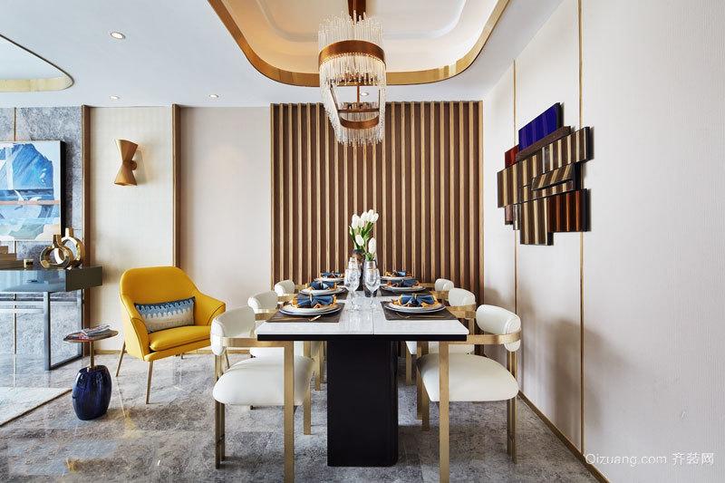 新古典主义风格奢华餐厅设计装修效果图