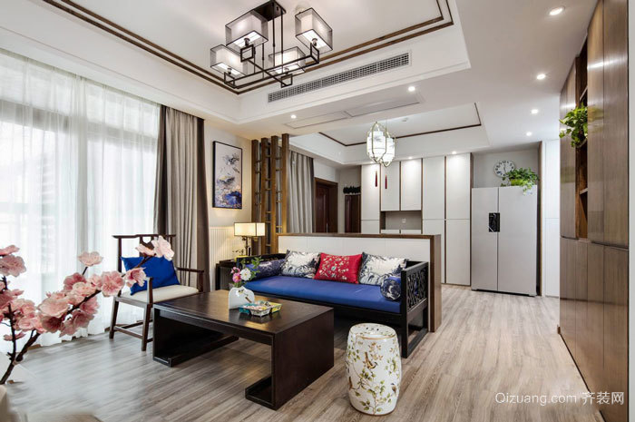 中式风格典雅精美客厅设计装修效果图
