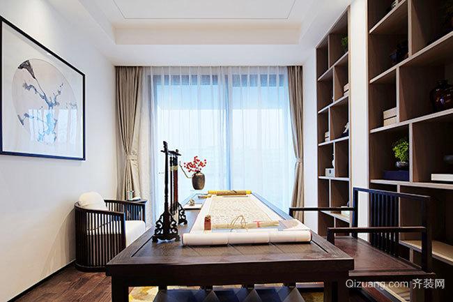 中式风格古典精致书房设计效果图