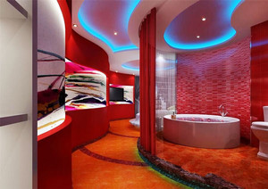 现代风格主题酒店客房设计装修效果图