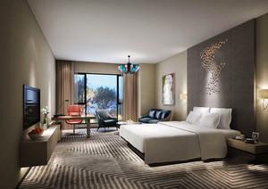 现代风格酒店客房设计装修效果图