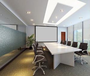 简约风格小型会议室设计装修效果图