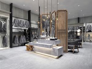 83平米现代风格服装店设计装修效果图
