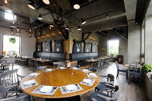 57平米简约时尚餐厅设计装修效果图