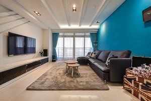 80平米现代简约风格室内设计装修实景图