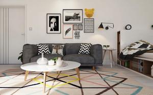 40平米简约风格单身公寓装修效果图