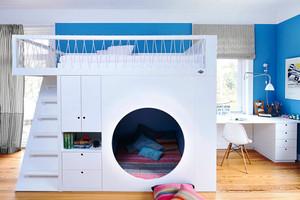 简约风格双层床儿童房装修效果图赏析