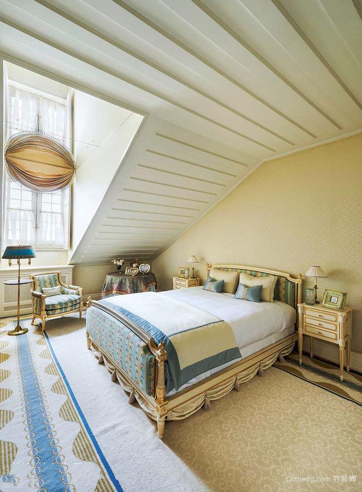 法式风格精致阁楼卧室装修效果图