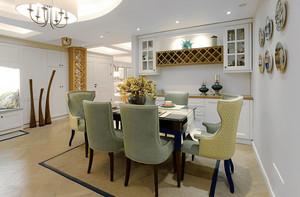 简欧风格精美餐厅设计装修效果图