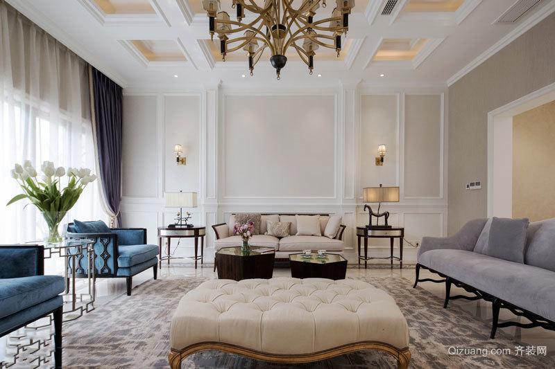 欧式风格精美别墅客厅设计装修效果图赏析