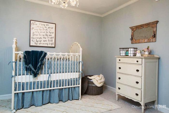 欧式风格浅色温馨婴儿房设计装修效果图