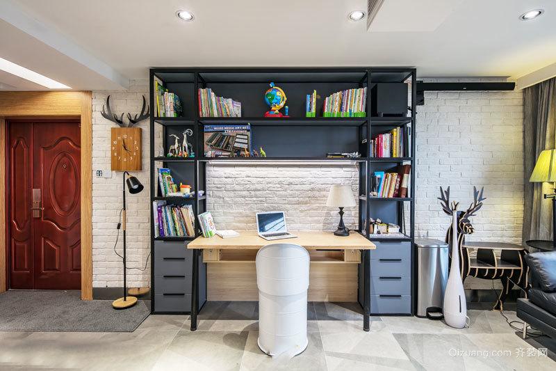 北欧风格简约开放式书房设计装修效果图