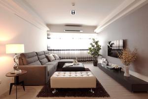 75平米新中式风格两室两厅室内装修效果图,新中式风格更多的是将中式风格雅韵融入到现代风格装修,整个空间能感受到重视氛围同时有舒适。