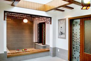 162平米中式风格复式楼室内装修效果图