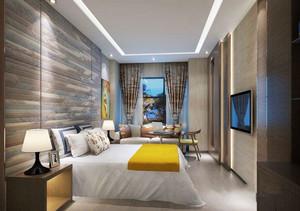 简约风格干净宾馆客房设计装修效果图
