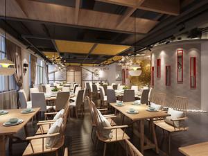 素雅中式风格精致中餐厅装修效果图