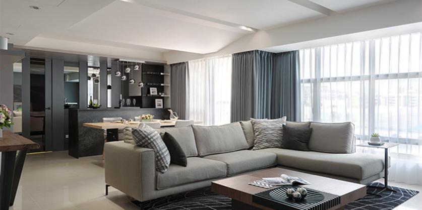 现代简约风格复式楼室内装修效果图