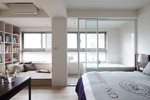 61平米简约温馨小公寓设计装修效果图