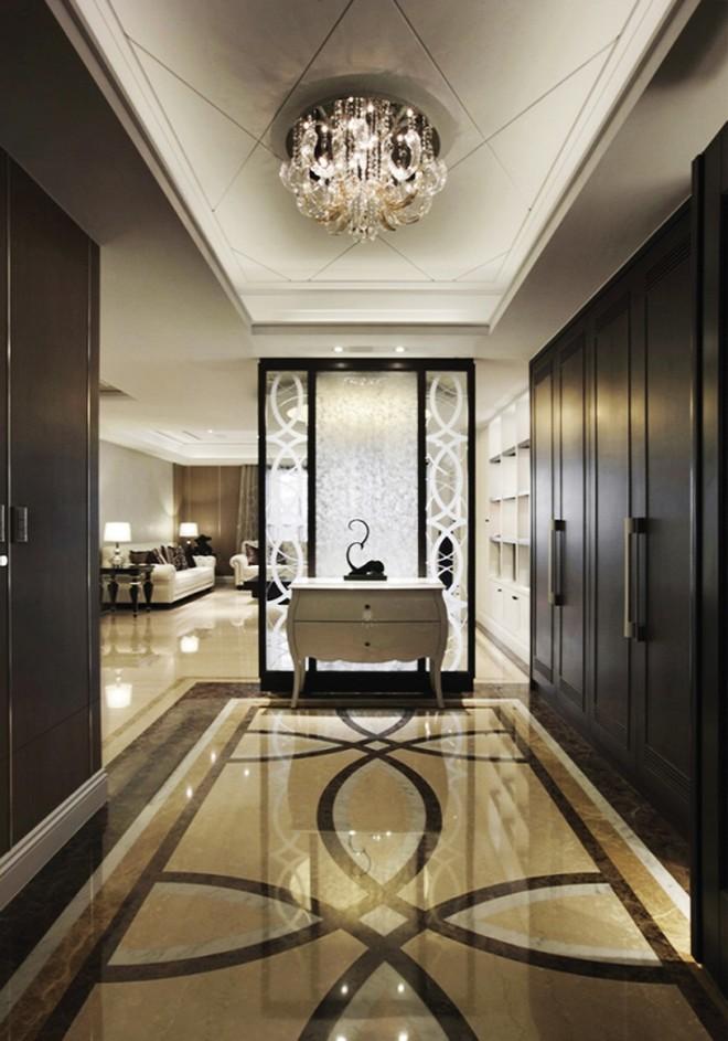 典雅精美简欧风格三室两厅室内设计装修效果图图片