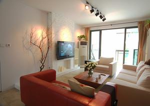 简约舒适现代风格一居室室内装修效果图