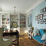 精美清新美式风格书房设计装修图