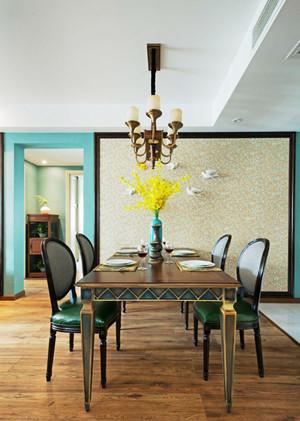 美式田园风格精致餐厅设计图