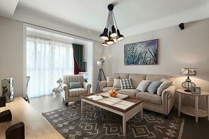 精美现代美式风格两室两厅室内设计装修效果图