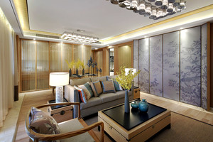 """素雅新中式风格三室两厅一卫装修效果图,新中式风格的独特魅力,特别是中式风格改变了传统家具""""好看不好用,舒心不舒身""""的弊端。"""